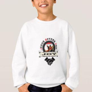 Jesus bietet Ihnen Freudelogo an Sweatshirt