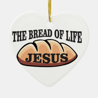 Jesus-Brot des Lebens Keramik Herz-Ornament