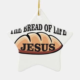 Jesus-Brot des Lebens Keramik Stern-Ornament