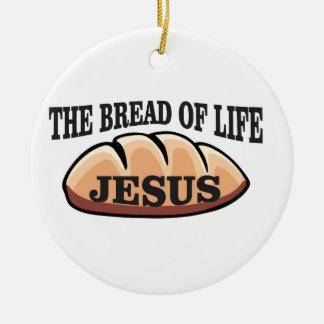 Jesus-Brot des Lebens Rundes Keramik Ornament