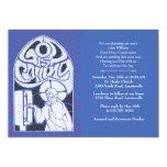 Jesus-Buntglas-religiöse Einladung 12,7 X 17,8 Cm Einladungskarte
