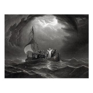 Jesus Christus beruhigt den Sturm Postkarten