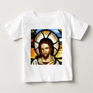 Jesus Christus-Buntglas-Fenster Baby T-shirt