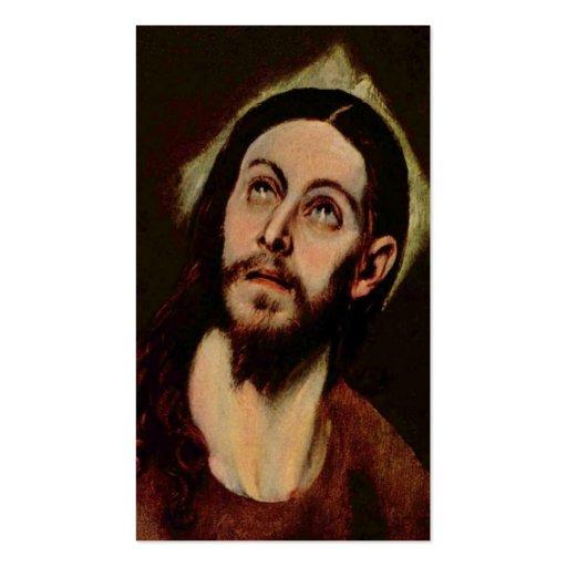 Jesus Christus circa 1580-1585 Visitenkartenvorlagen