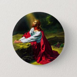 Jesus Christus, der im Garten von Gethsemane betet Runder Button 5,7 Cm