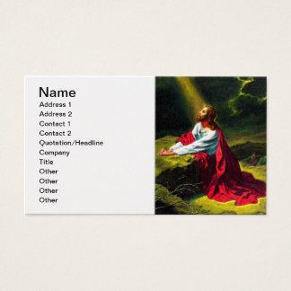 Jesus Christus, der im Garten von Gethsemane betet Visitenkarte