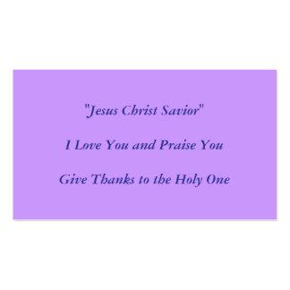 Jesus Christus-Entwurf durch Carole Tomlinson Visitenkarten