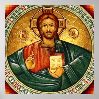 Jesus Christus Hristos Pantocrator Poster