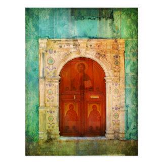 Jesus Christus-Ikonen-Tür-griechisches orthodoxes Postkarte