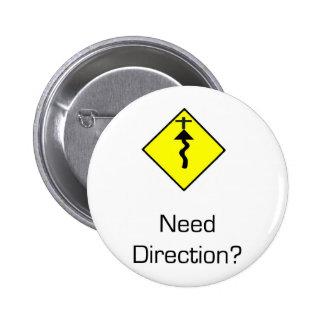 Jesus Christus ist die Richtung Runder Button 5,7 Cm