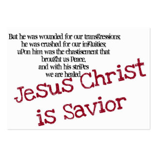 Jesus Christus ist Retter (Fläche) Mini-Visitenkarten