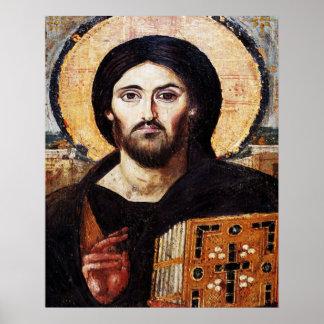 Jesus Christus Pantocrator Ikone Poster
