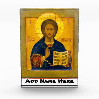Jesus Christus-Russe-Ikone Acryl Auszeichnung