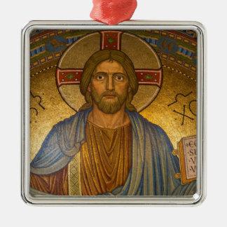 Jesus Christus - schöne christliche Grafik Silbernes Ornament