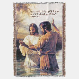 Jesus Christus-Taufe-Wurfs-Decke Decke