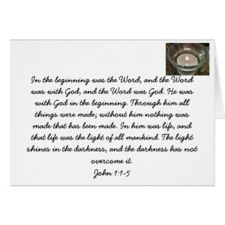 Jesus Christus. Wort Gottes. Bibel-Verskarte Karte