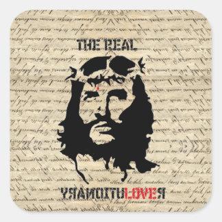 Jesus Christusrevolutionär Quadratischer Aufkleber