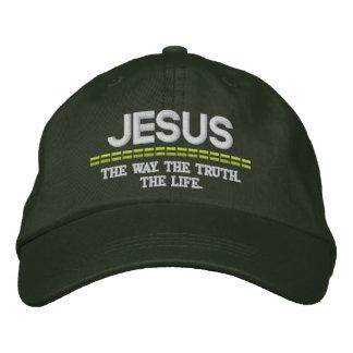 Jesus-D Weise. Die Wahrheit. Der Leben-justierbare Bestickte Kappe