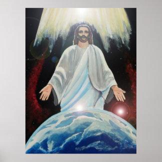 Jesus, das Licht der Weltchristlichen Kunsterde Posterdruck