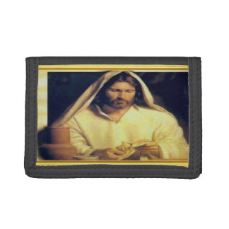 Jesus, der Brot-Gold und schwarze Beschaffenheit