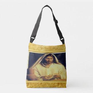 Jesus, der Goldbeschaffenheit Brotmatthews 14-13 Tragetaschen Mit Langen Trägern