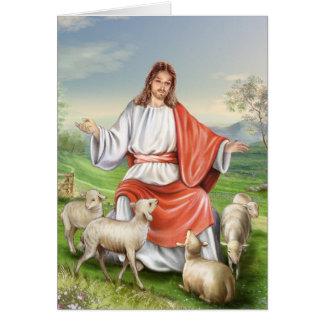 Jesus der gute Hirte Karte