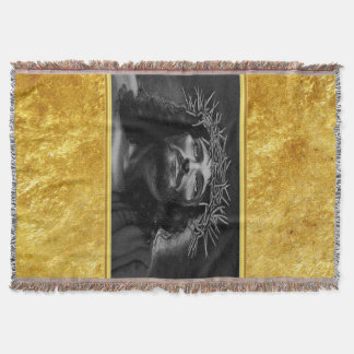 Jesus, der Himmel mit einem Goldfolienentwurf Decke
