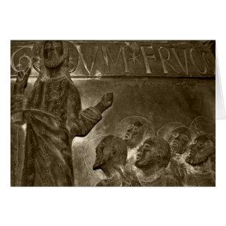 Jesus, der seine Nachfolger unterrichtet Karte