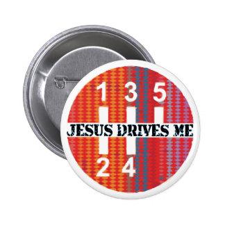 Jesus fährt mich christlicher Knopf Anstecknadelbuttons