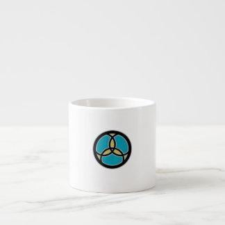 Jesus-Fisch-Dreiheits-beflecktes Glas (aquamarin) Espressotasse