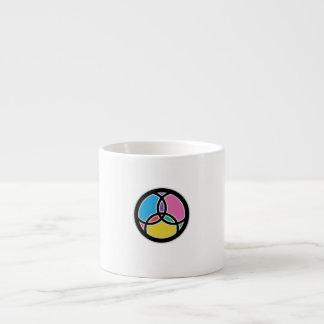 Jesus-Fisch-Dreiheits-Buntglas Espressotasse