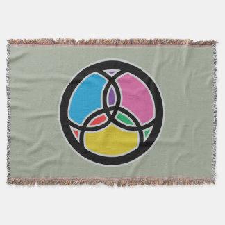Jesus-Fisch-Dreiheits-Buntglas - mehrfarbig Decke