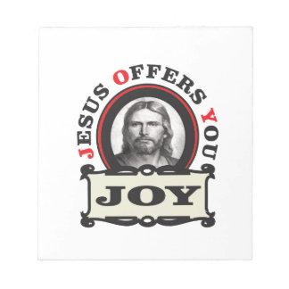 Jesus-Freude ja Notizblock