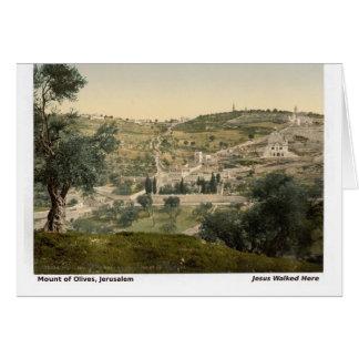 Jesus ging hier: Der Ölberg, Jerusalem Karte