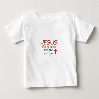 JESUS-Grund für Jahreszeit Baby T-shirt