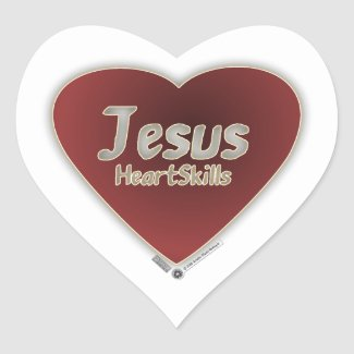 Jesus HeartSkills - lebendige  Herzform Herz-Aufkleber