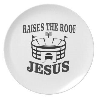 Jesus hebt das Dach ja an Melaminteller