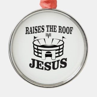 Jesus hebt das Dach ja an Silbernes Ornament