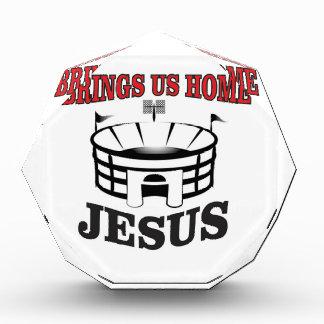 Jesus holt uns Zuhause Acryl Auszeichnung