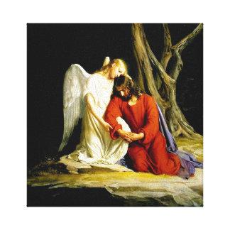 Jesus im Garten von Gethsemane Galerie Falt Leinwand
