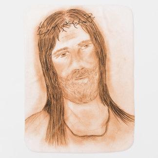 Jesus im Licht Kinderwagendecke