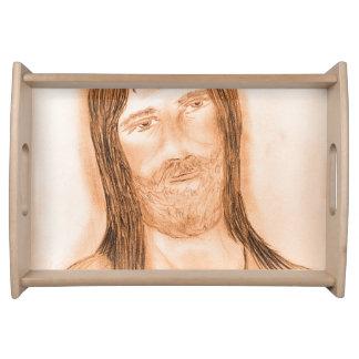 Jesus im Licht Serviertablett