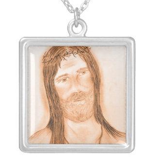 Jesus im Licht Versilberte Kette