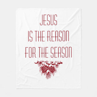 JESUS IST DER GRUND FÜR DIE INSPIRIEREND FLEECEDECKE
