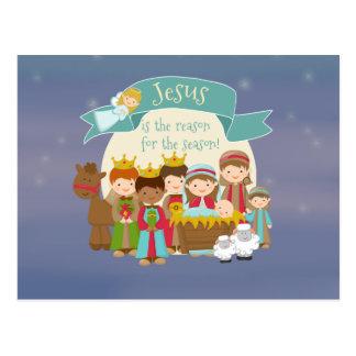 """""""Jesus ist der Grund"""" Geburt Christis-Postkarte Postkarte"""