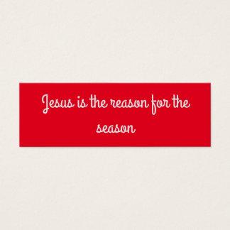 """""""Jesus ist der Grund während der Jahreszeit"""" Mini Visitenkarte"""