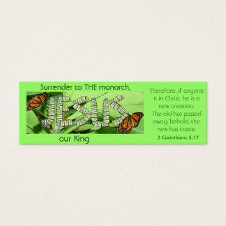 Jesus ist DER Monarch, unser König Bookmark Mini Visitenkarte