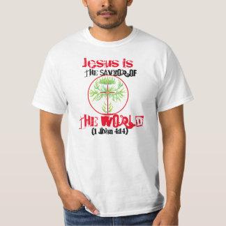 Jesus ist der Retter der Welt T-Shirt