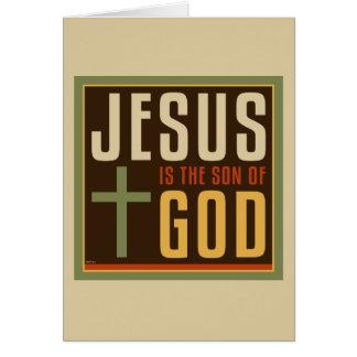 Jesus ist der Sohn des Gottes Karte