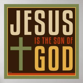 Jesus ist der Sohn des Gottes Plakatdrucke